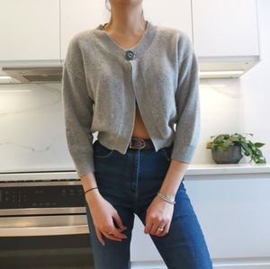 In Cashmere 100% Cashmere cropped cardigan
